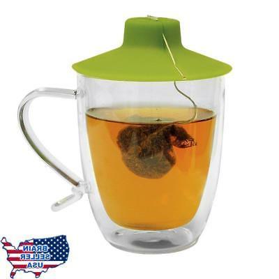Primula Double Wall Glass Mug and Tea Bag Buddy – Temperat