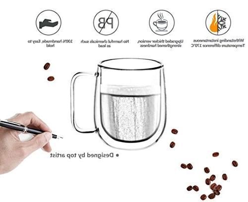 Huada Double Borosilicate Espresso 10-Ounce, Set of 2