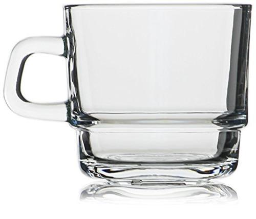 Hikari 7oz Glass Cups; Hot. Nespresso, Coffee, Other Drinks, Set of