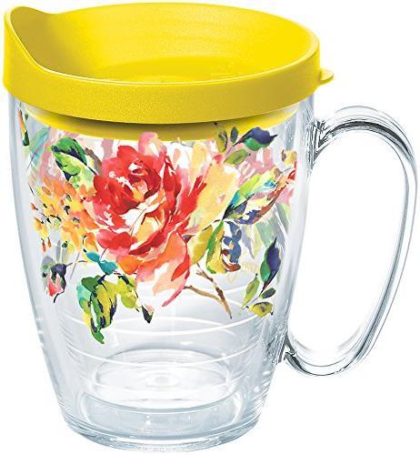 fiesta rose pattern kitchen mug