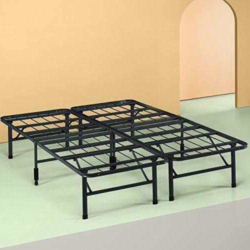 Full Size Folding Bed Frame Spring Base Mattress Bedroom Fur