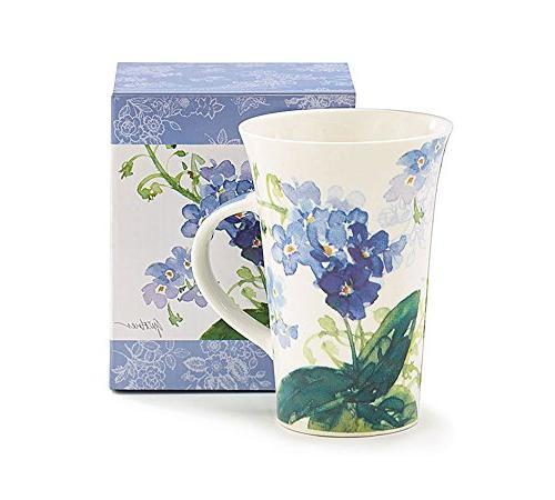 forget me flowers ceramic mug