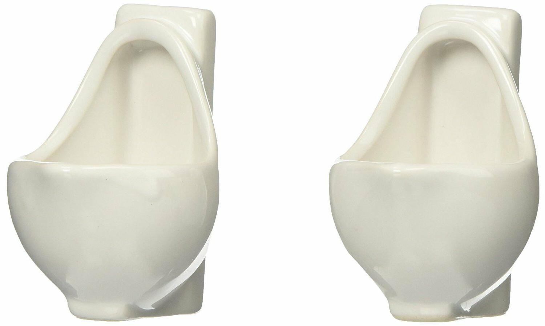 funny gift urinal shot glasses white ceramic