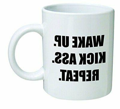 funny mug 11oz wake up kick ass
