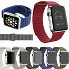 Genuine Leather Loop Magnetic Watch Band For Apple Watch 42m
