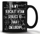 Gift for math teacher, Funny math teacher mug, Black Ceramic
