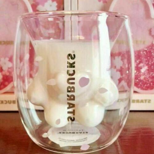 Glass Paw Milk Pink Paw For Starbucks