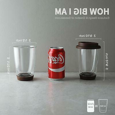 Sweese Glass Mug 2 set Wall Thermo Borosilicate