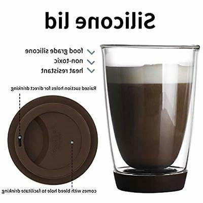 Sweese Glass Travel Mug Set - Double Borosilicate