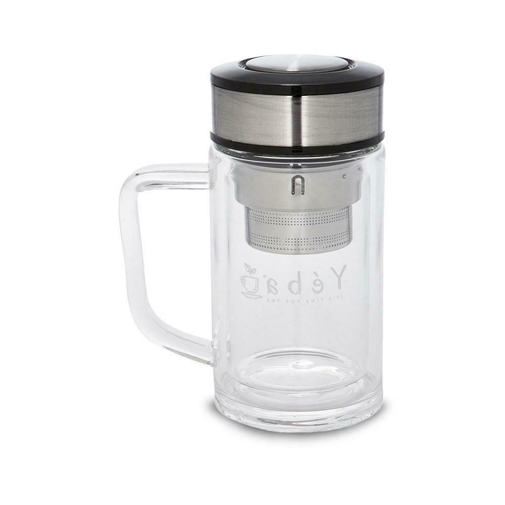 glass travel mug with handle lid