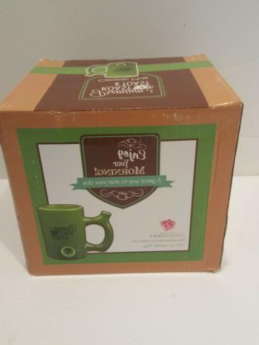 Green PREMIUM ROAST & TOAST Novelty Coffee Mug plus pipe