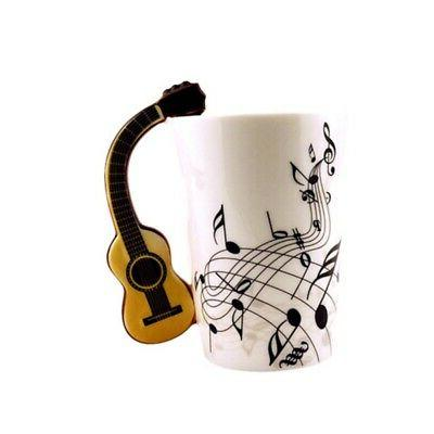 2019 guitar handle music note pattern coffee