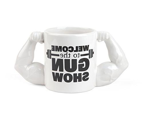 gun show coffee mug