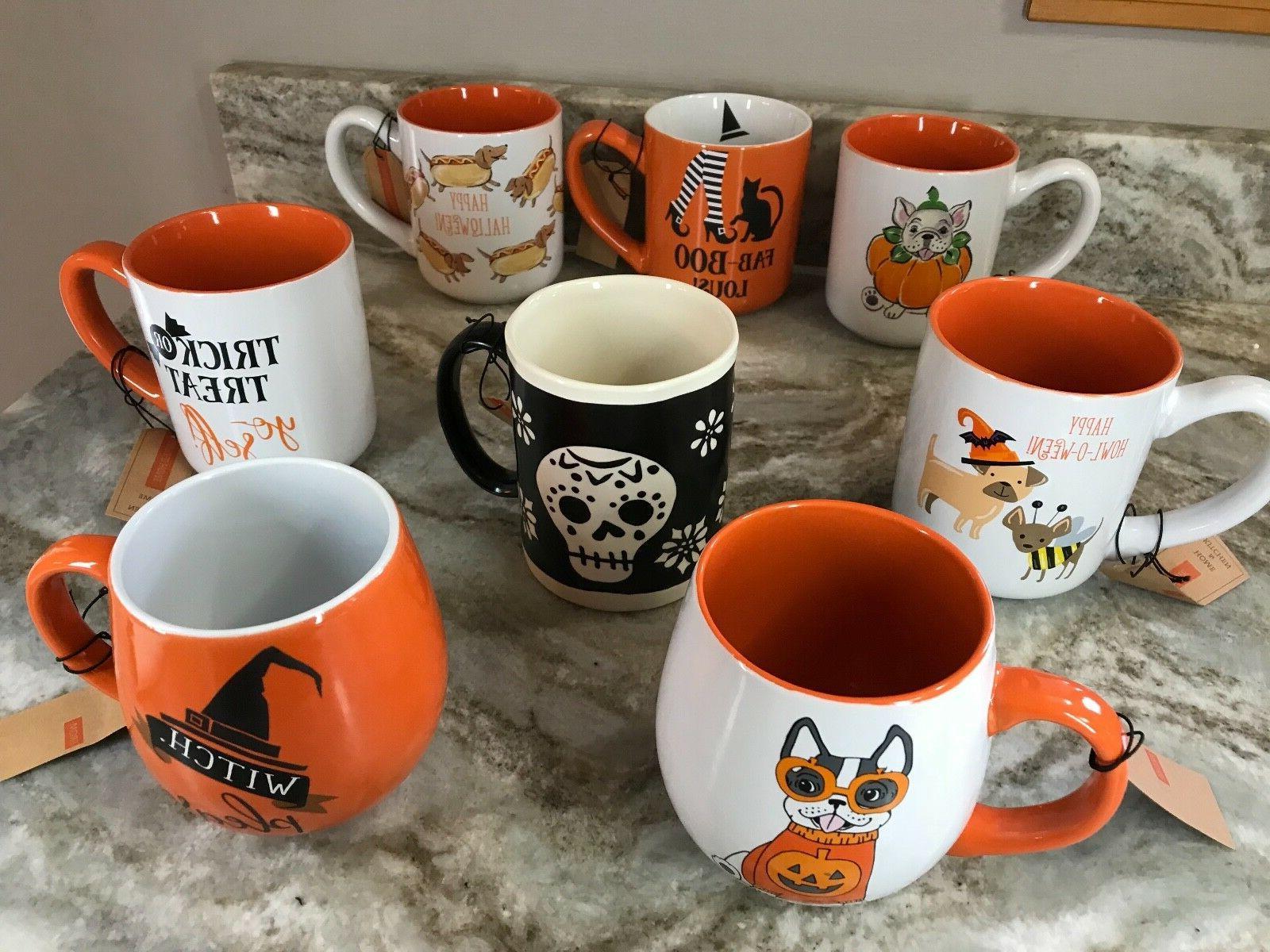 halloween coffee mugs design boo spooky trick