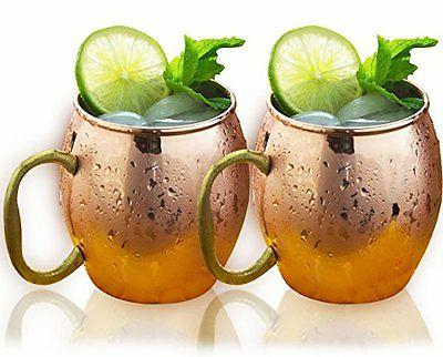 handcrafted solid copper moscow mule