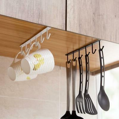 Hanging Hook Cabinet Glass Mug Holder Rack Organizer Home Ki