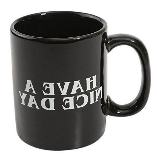 Decodyne Have Nice Day Coffee Cup on the