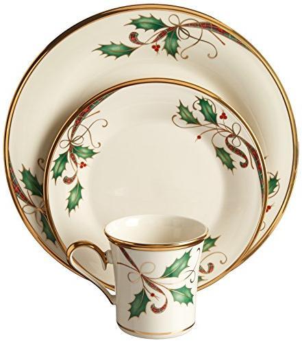 holiday nouveau gold dinnerware set