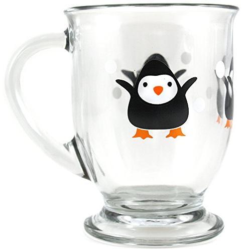 holiday penguin cafe mug