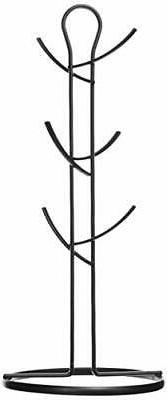 Home Basics Chrome Wire Collection Durable Steel Mug Tree St