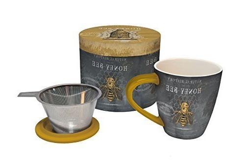 honey bee tea infuser mug