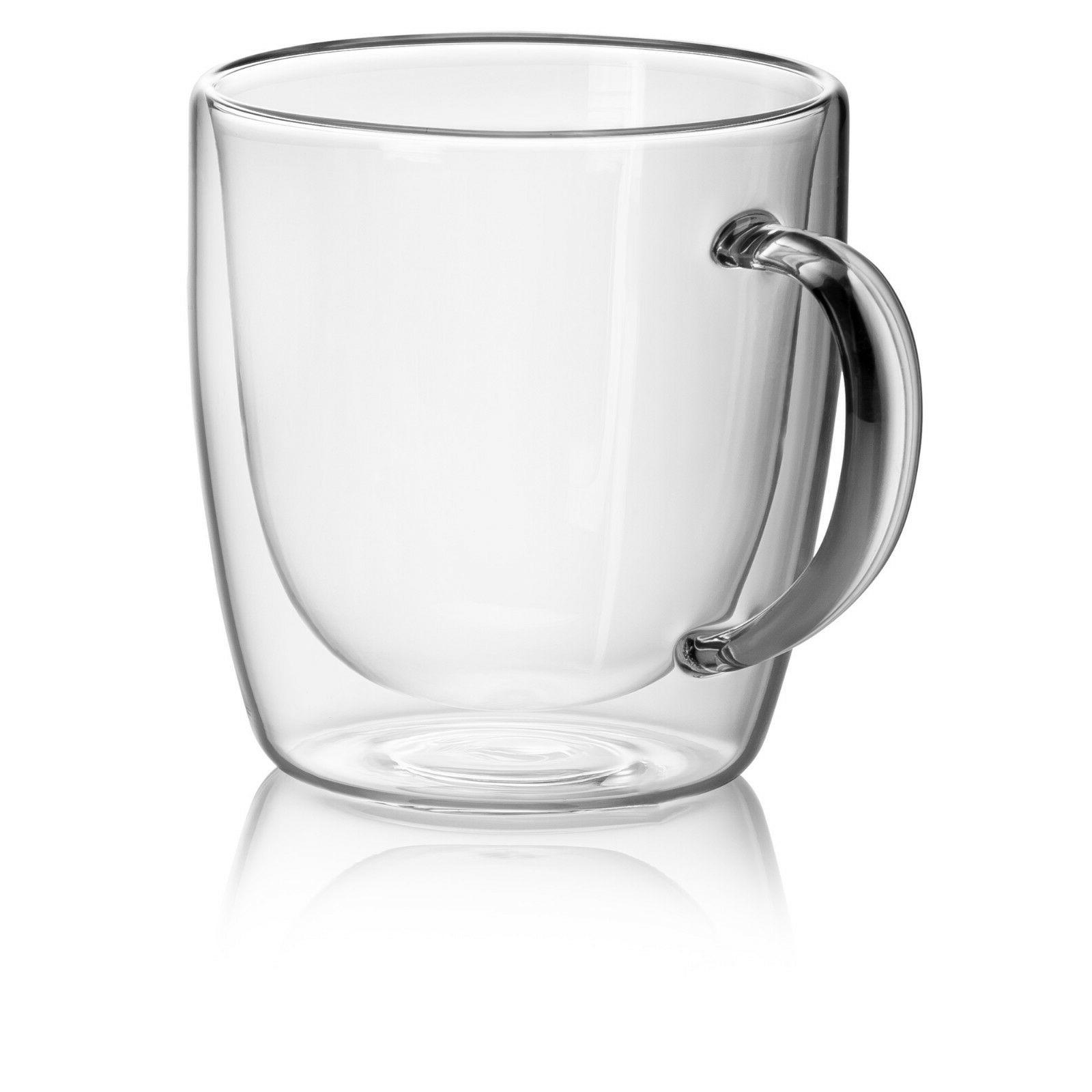 JECOBI Glass Double Tea Mug 14 oz