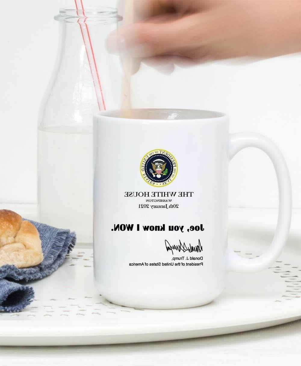 Joe You Know White Note Trump Mug