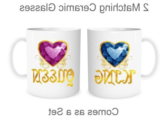 king and queen matching mugs cute couples