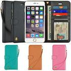 Leather Cover Card Wristlet Wallet Case For Apple iPhone X 6
