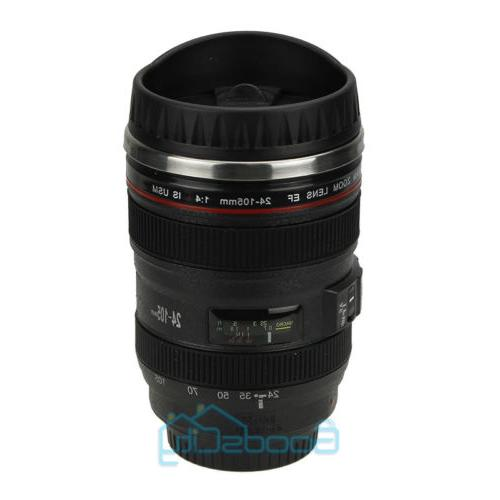 Camera Lens Cup Coffee Travel Mug Thermos