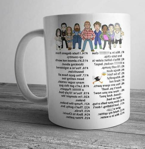 Letterkenny Funny Quotes Mix In A F**king Clu Bro Mug White