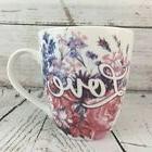 Pfaltzgraff LOVE Coffee Mug 18 OZ Porcelain Pink Floral Wate