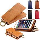 Luxury Genuine Leather Flip Wallet Phone Case Cover for iPho
