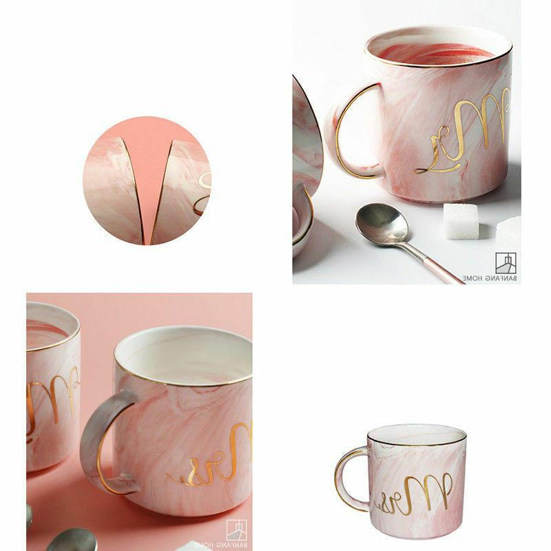 Marble and Mrs Coffee Mugs of 2 Ceramic for