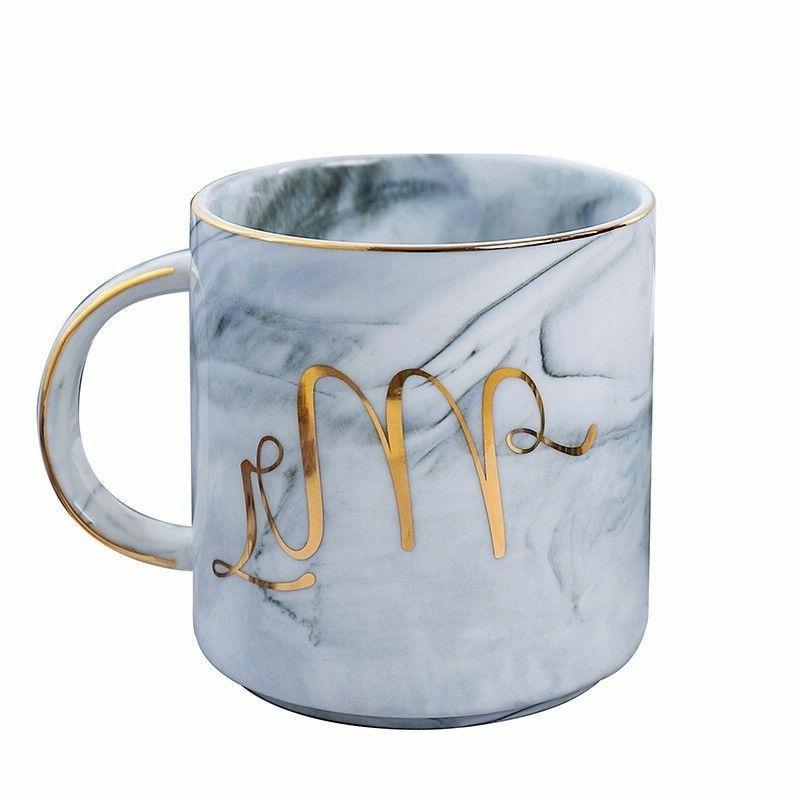 Marble Coffee Mugs Set for