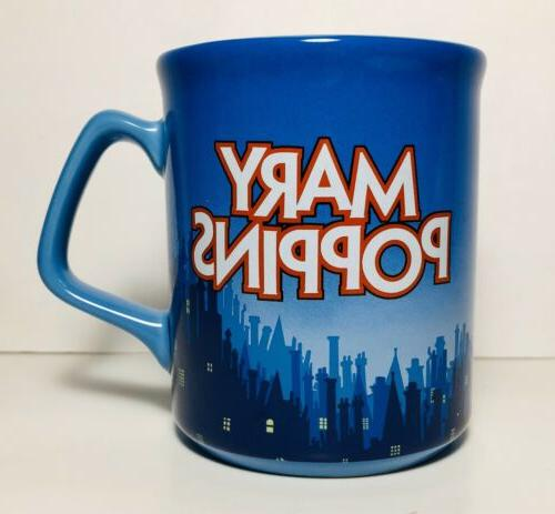 mary poppins mug cup blue with label