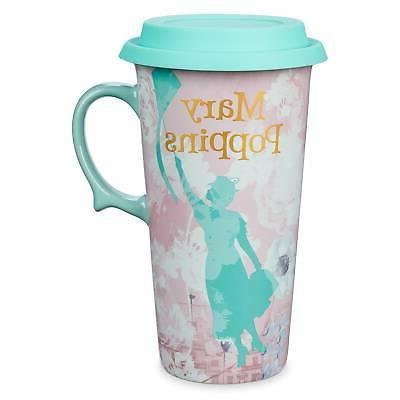 mary poppins returns ceramic travel mug new