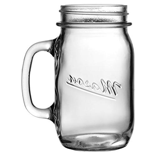 mason embossed glass canning jar