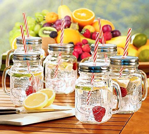 Estilo Jar with Old Drinking Set 6, 16 oz
