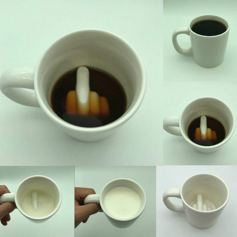 middle finger novelty coffee mug creative ceramic