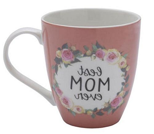 mom ever pink floral coffee