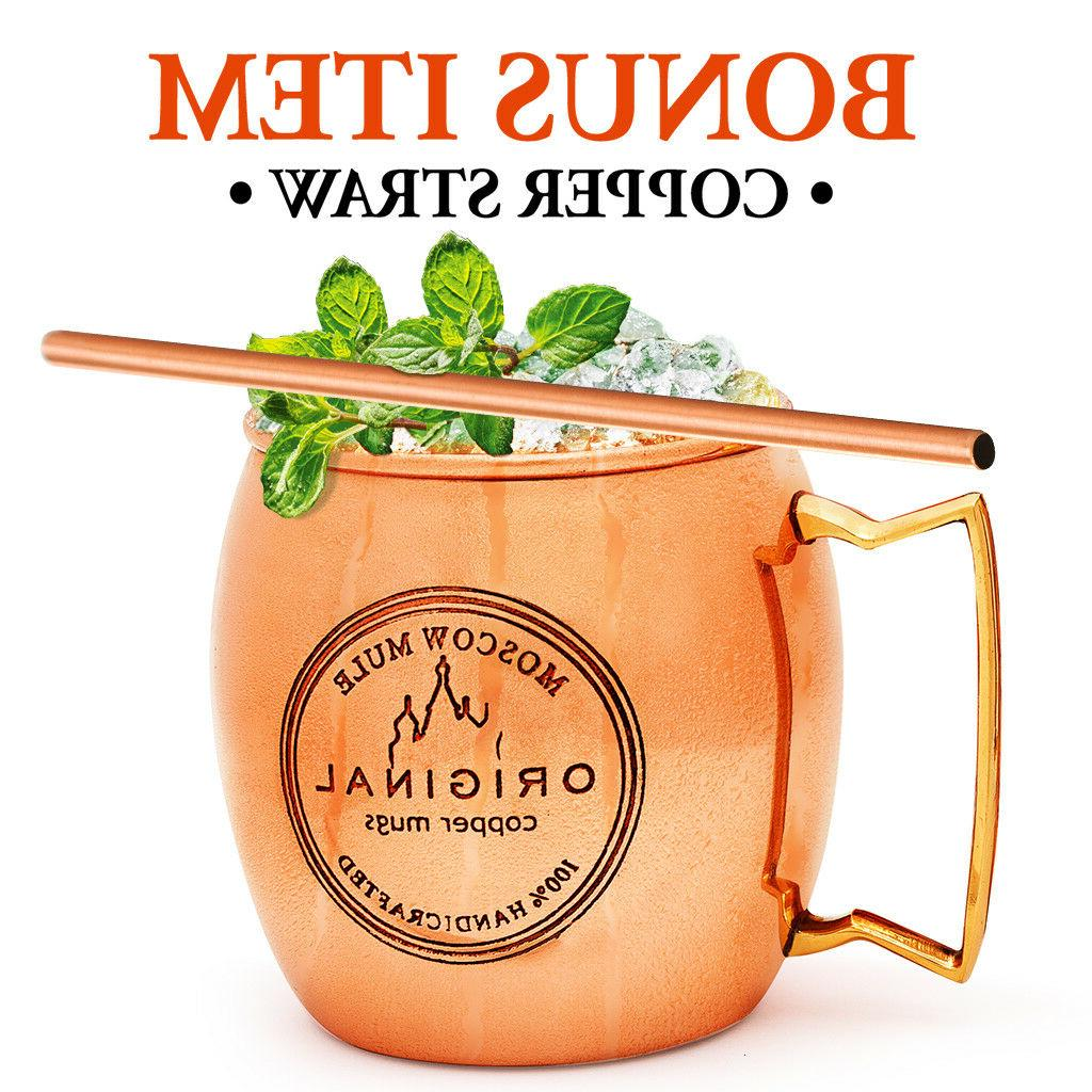 Food Safe 100% Pure Solid Copper 16 oz
