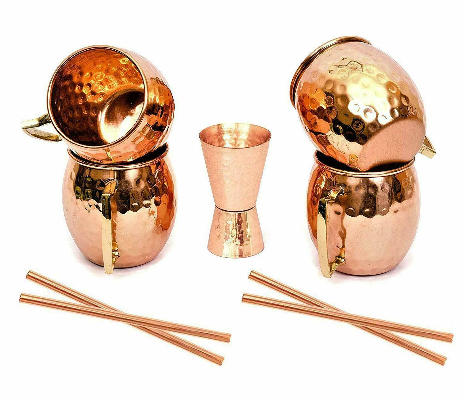moscow mule copper mugs hammered barrel solid