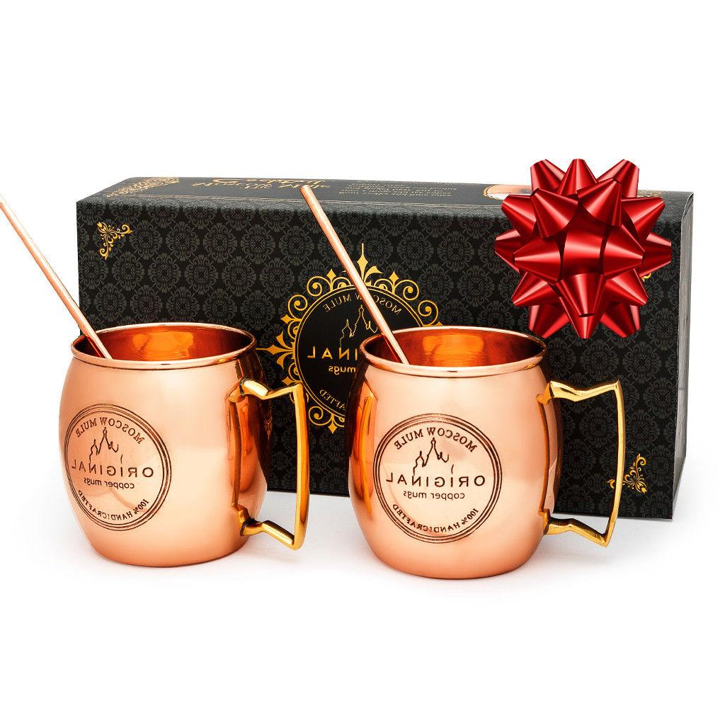 MOSCOW MUGS Set HANDCRAFTED Safe Solid Copper