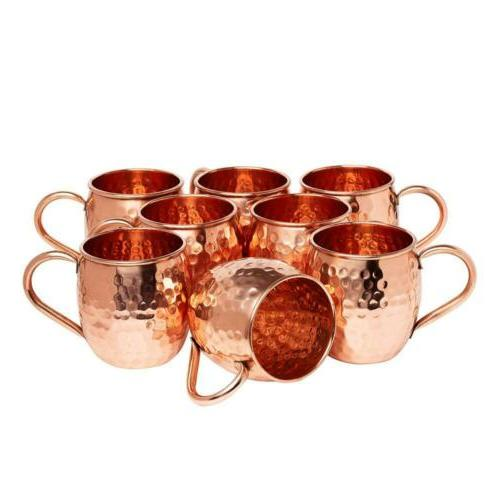Kitchen Moscow Mule Hammered Copper 16 Drinking Mug, of 8