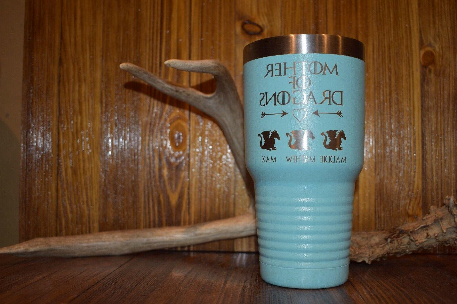 MOTHER OF DRAGONS CUSTOM TUMBLER NAMES GAME OF THRONES NOT