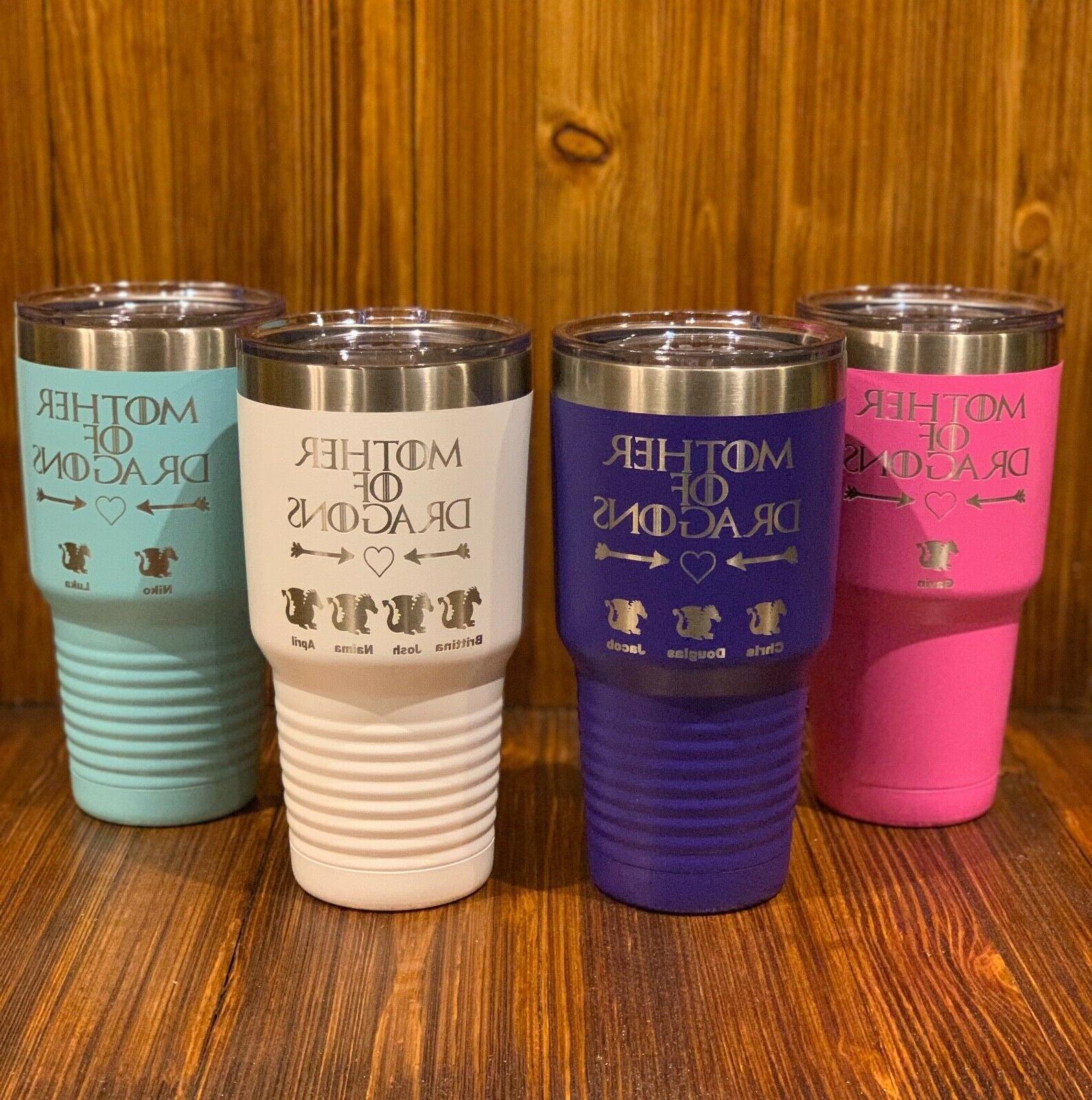 mother of dragons custom tumbler mug cup
