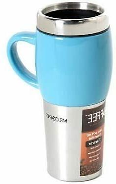 Mr. Coffee Traverse 16 oz Travel Mugs with Lids