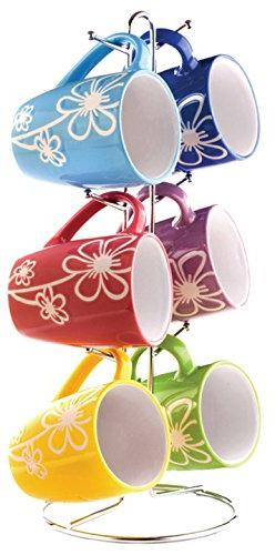 Home Basics MS30105 Mug With Stand Daisy,