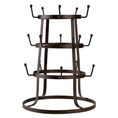 MUG RACK HOLDER TREE COFFEE CUP STORAGE STAND KITCHEN ORGANI